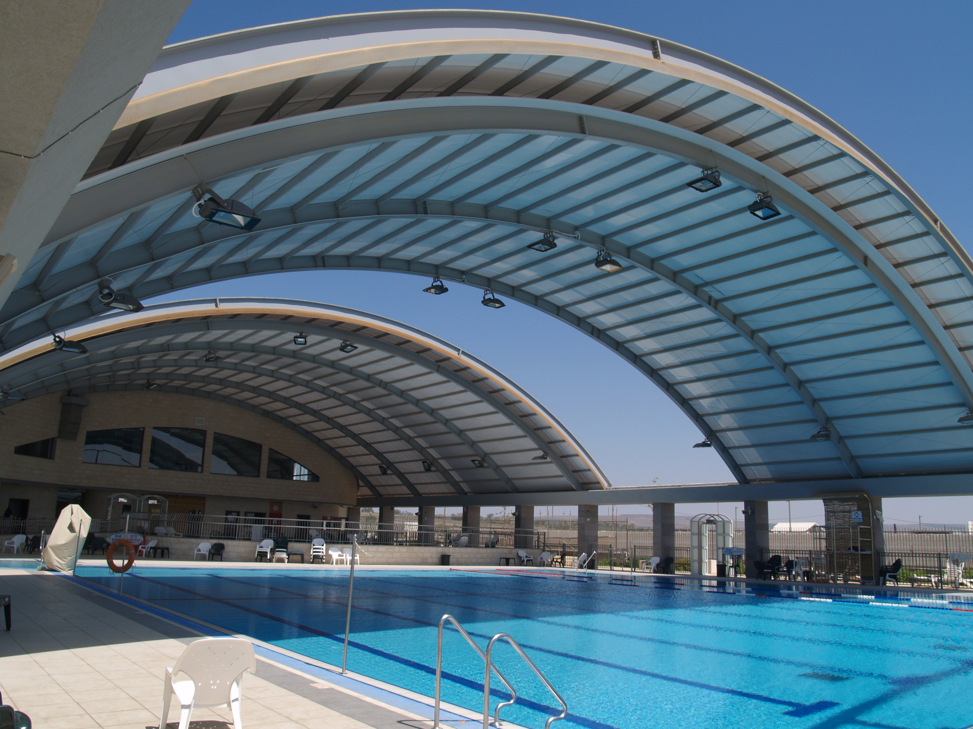 Roofing public pools - Roof Dagan